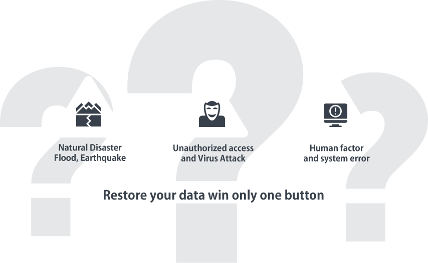 Restore your data win only one button